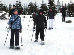 Schneeschuwanderung für Familien